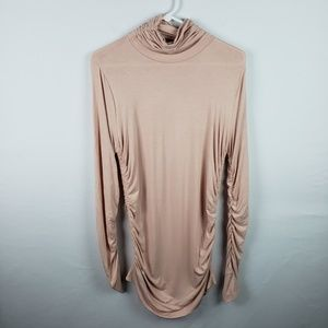 Soft Surroundings Top Turtleneck Ruched #381